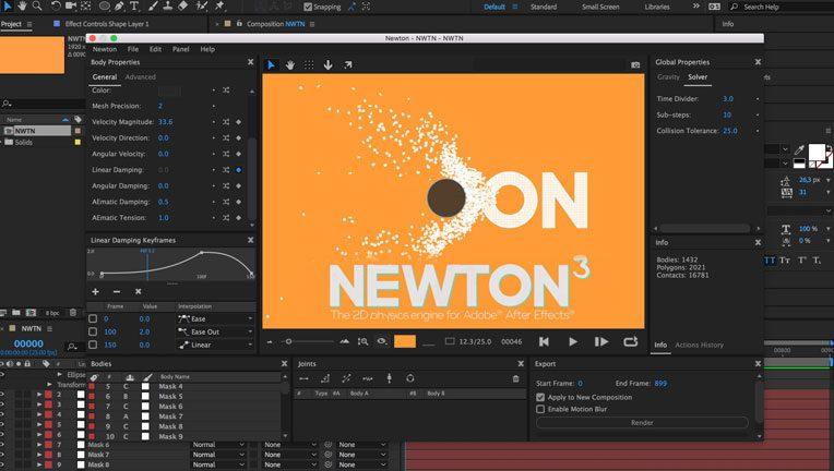 دانلود رایگان پلاگین افترافکت Motion Boutique Newton