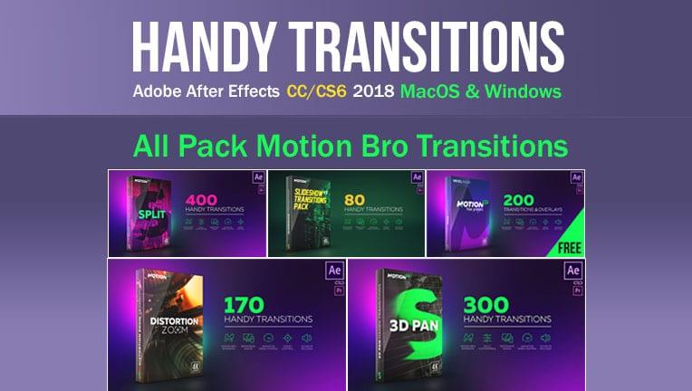 مجموعه ترانزیشنAll Pack Handy Transitions Motion Bro 2018