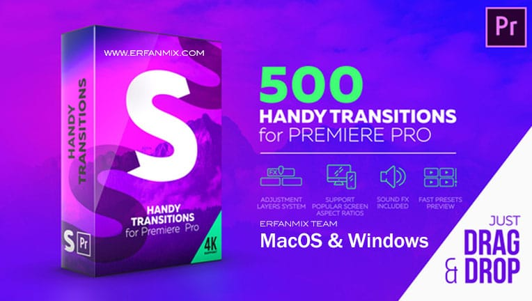 مجموعه ترانزیشن Handy Transitions For Premiere Pro