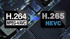 تصویر تفاوت فرمت H.264وH.265 چیست؟