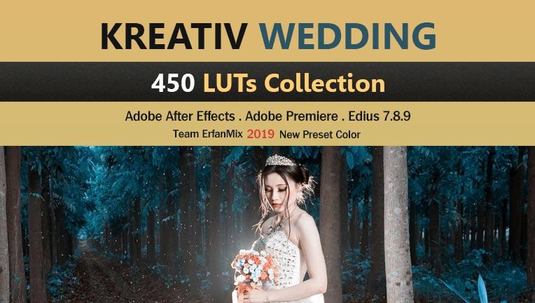 مجموعه 450 پریست رنگی ودینگ Kreativ Wedding LUTs
