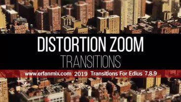 ترانزیشن زوم Zoom Distortion Transitions For Edius 7.8.9