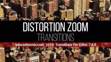 ترانزیشن زوم Zoom Distortion Transitions For Edius 7.8.9