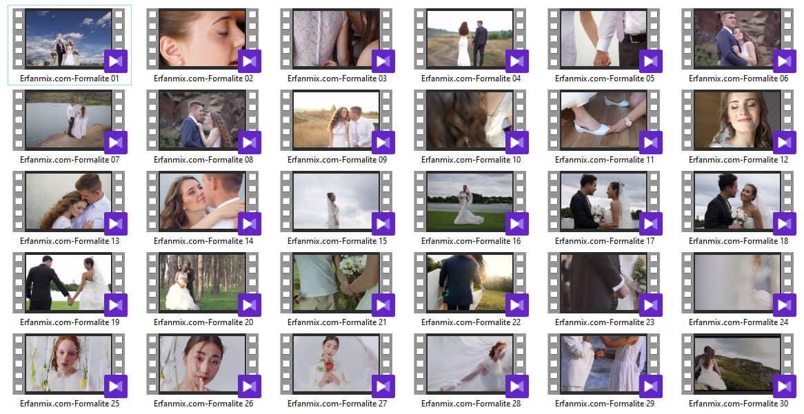 مجموعه استوک عروسی Stock Video Formalite