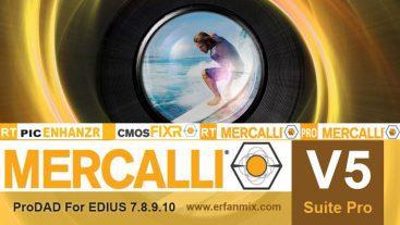 پلاگین پروداد مرکالی ProDAD Mercalli V5 Plugin For Edius 7.8.9.10
