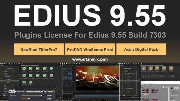 پلاگین های حرفه ای و جدید ادیوس EDIUS 9.55