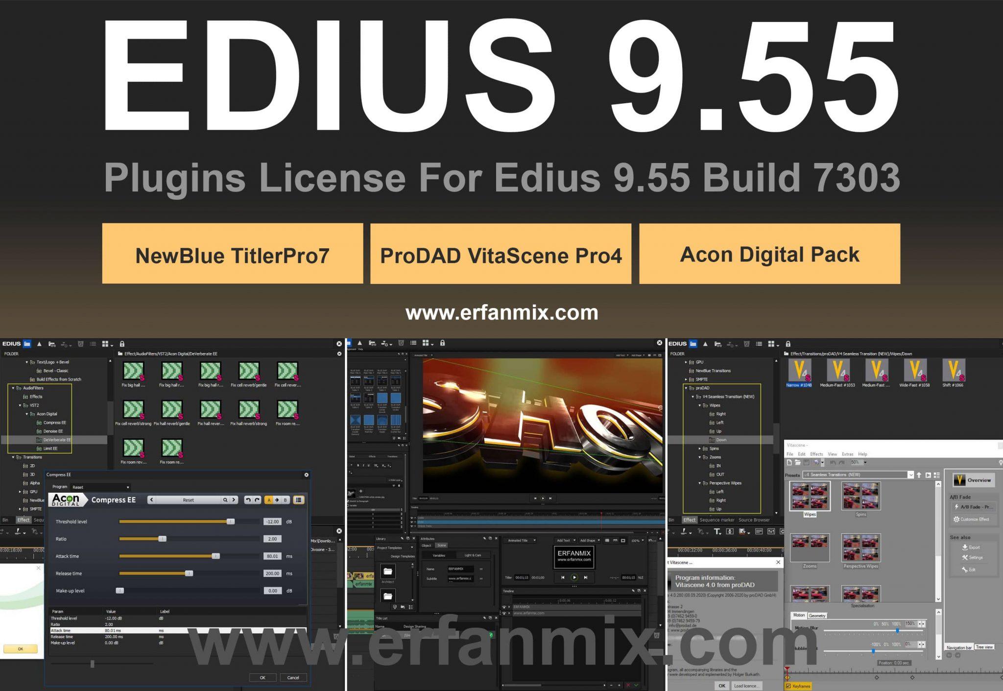 پک پلاگین ادیوس 9.55 نسخه ورک گروپ