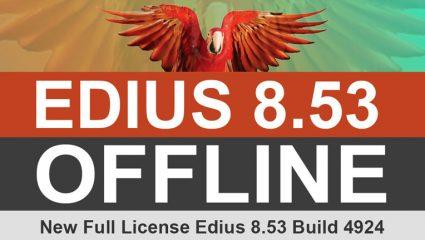 لایسنس License آفلاین نرم افزار ادیوس EDIUS Pro 8.53